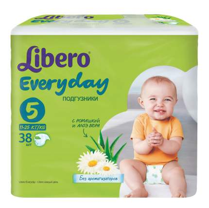 Подгузники Libero Everyday Size 5 (11-25кг), 38 шт.