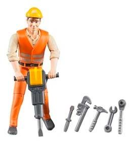 Фигурка строителя bruder с аксессуарами