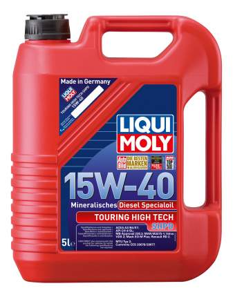 Моторное масло Liqui moly Touring High Tech SHPD 15w-40 5л
