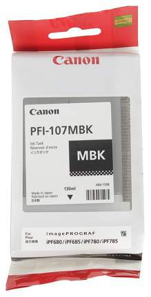 Картридж для струйного принтера Canon PFI-107 MBK 6704B001 матовый черный, оригинал
