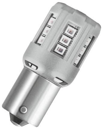 Лампа светодиодная автомобильная OSRAM 1W 12V BAU15S (7457YE-02B)