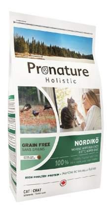 Сухой корм для кошек Pronature Holistic Grain Free Нордико, домашняя птица, 2кг