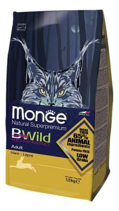 Сухой корм для кошек Monge Bwild, кролик, 1,5кг