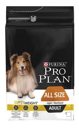 Сухой корм для собак PRO PLAN OptiWeight All Size Adult, при избыточном весе, курица, 3кг