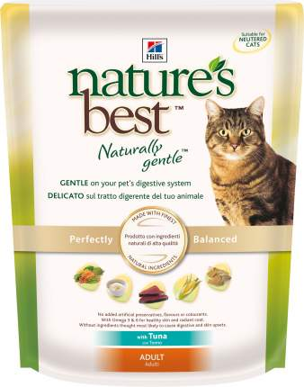 Сухой корм для кошек Hill's Nature's Best, натуральный, рыба, 0,3кг