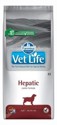 Сухой корм для собак Farmina Vet Life Hepatic, при печеночной недостаточности, рыба, 2кг