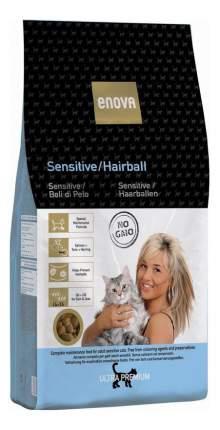 Сухой корм для кошек ENOVA Sensitive Hairball, для выведения шерсти, рыба, 0,4кг