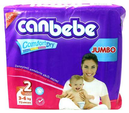Подгузники для новорожденных Canbebe Comfort Dry Mini 2 (3-6 кг), 72 шт.