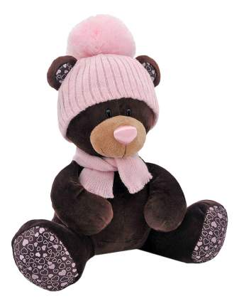 Мягкая игрушка Orange Toys Медведь девочка Milk сидячая в розовой шапке 30 см