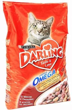 Сухой корм для кошек Darling, мясо, овощи, 10кг