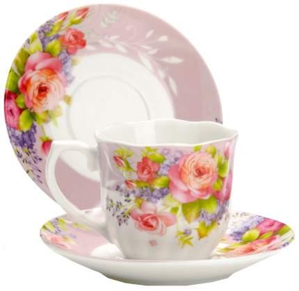Кофейный набор Lorane 25960 Белый, розовый
