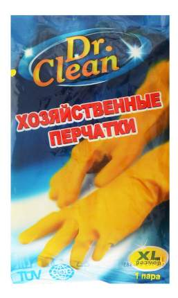 хозяйственные перчатки резиновые, размер XL, тон оранжевые, 1 пара