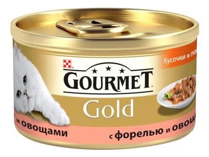 Консервы для кошек Gourmet Gold, рыба, овощи, 85г