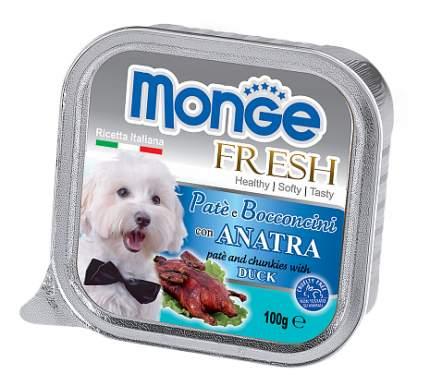 Консервы для собак Monge Fresh, утка, 100г