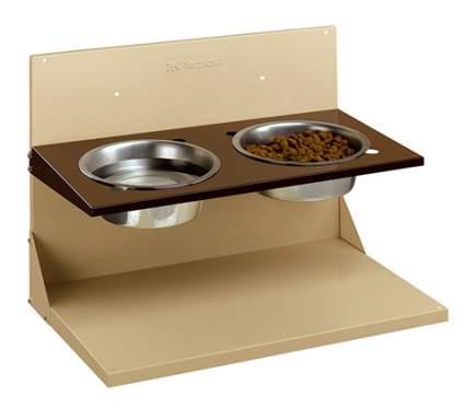 Набор мисок для собак Ferplast, металл, сталь, коричневый, серебристый, 2 шт по 4 л