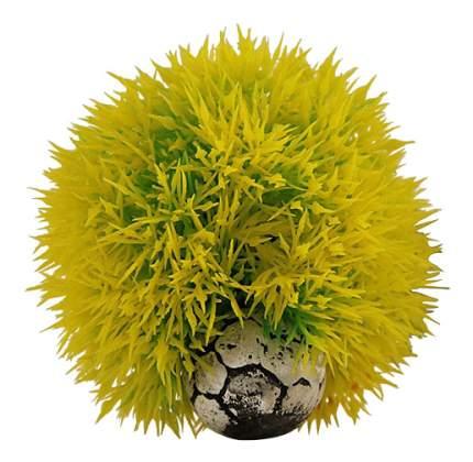 Laguna Растение для аквариума Шар, желтый, 9 см