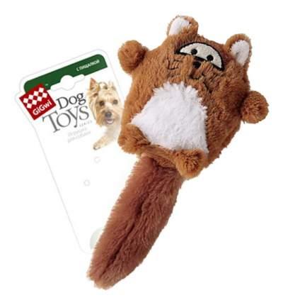 Мягкая игрушка для собак GiGwi Лиса с большой пищалкой, длина 18 см