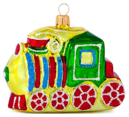 Елочная игрушка Елочка Паровозик C651 8 см 1 шт.