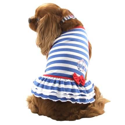 Платье для собак Triol Nautica размер L женский, синий, белый, длина спины 35 см