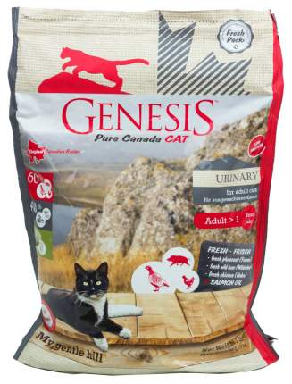 Сухой корм для кошек Genesis Pure Canada My Gentle Hill Urinary, дичь, курица, 0,34кг