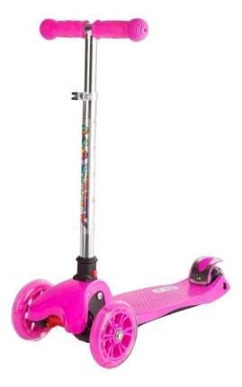 Самокат трехколесный Maxcity Flex 168100 розовый-серебристый