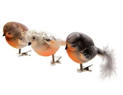 Набор елочных игрушек Kaemingk Лесная Птичка ID16422 8 см 3 шт.