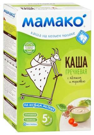 Каша молочная Мамако Гречневая на козьем молоке с яблоком и морковью с 5 мес. 200 г