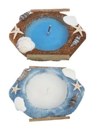 Neogift Стеклянный подсвечник со свечой 11,5х8 5х3,6 см Neogift Е55418
