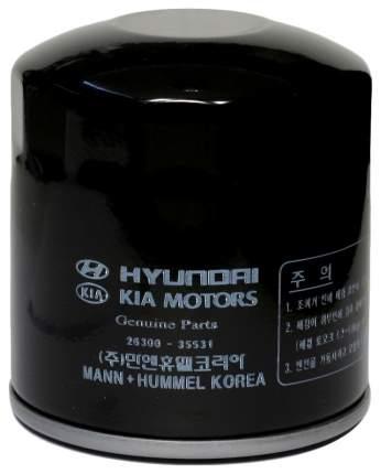Фильтр масляный двигателя Hyundai-KIA 26300-35531
