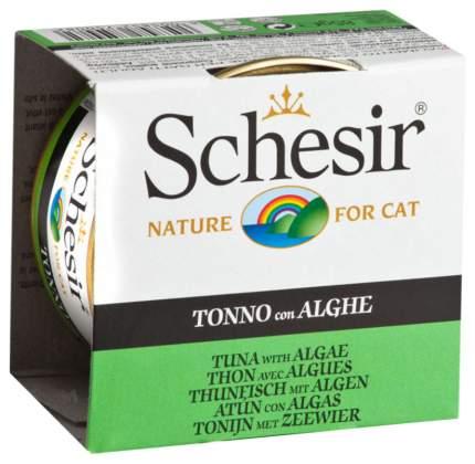 Консервы для кошек Schesir, водоросли, тунец, 85г