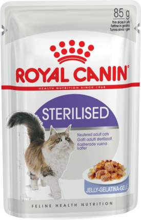 Влажный корм для кошек ROYAL CANIN Sterilised, мясо, 12шт, 85г