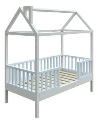 Кровать-домик Трурум KidS Сказка узкий бортик голубо-белая