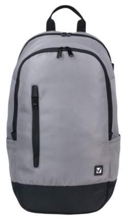 Рюкзак Brauberg B-HB1605 серый с черной молнией