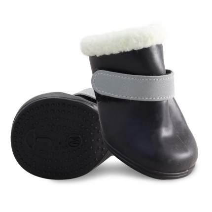 Обувь для собак Triol размер M, 4 шт черный
