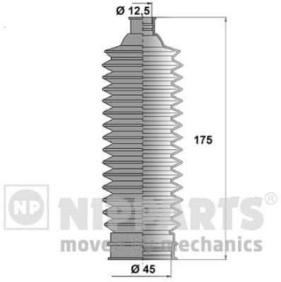 Пыльник рулевой рейки Nipparts N2844023