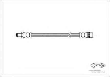 Шланг тормозной Corteco 19020436