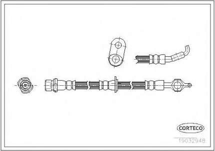 Шланг тормозной системы Corteco 19032948