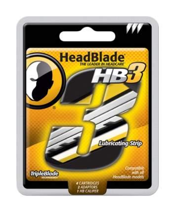 Набор сменных кассет для станка HeadBlade с 3мя лезвиями