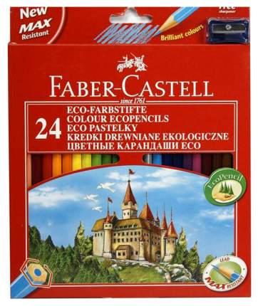 Цветные карандаши Faber Castell ECO Замок с точилкой 120124 24 цвета