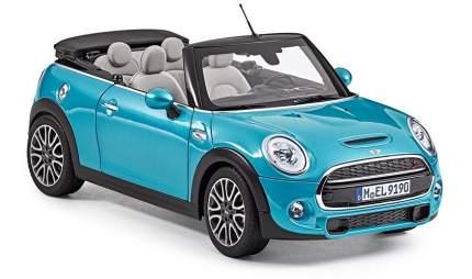 Модель автомобиля Mini Cabrio F57 80432405584 Electric Blue Scale 1:18