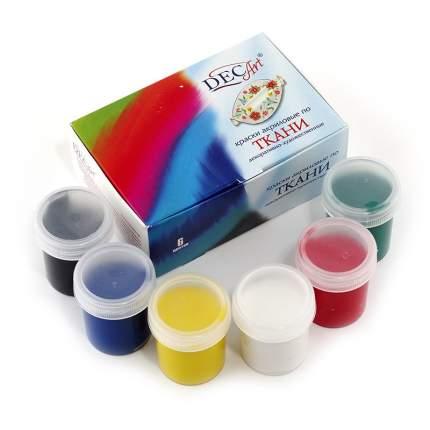 Акриловая краска по ткани DecArt 6 цветов