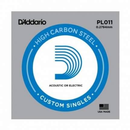 Одиночная струна для акустической и электрогитары D ADDARIO PL011