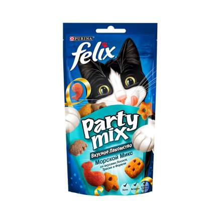 Лакомство для кошек Felix Морской микс, лосось, треска, форель, 60г