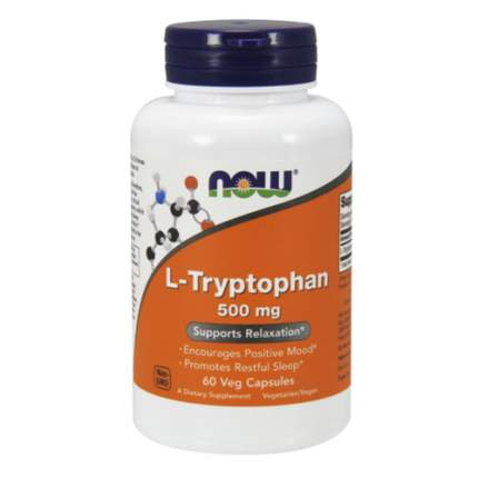 L-Tryptophan 500 NOW Sports, 60 капсул