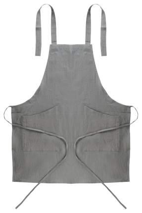 Фартук из умягченного льна серого цвета Essential 70х82