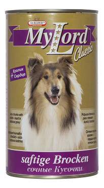 Консервы для собак Dr. Alder's My Lord Classic, кролик, 12шт по 1230г