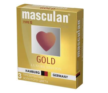 Презервативы Masculan 5 Ultra золотого цвета 3 шт.