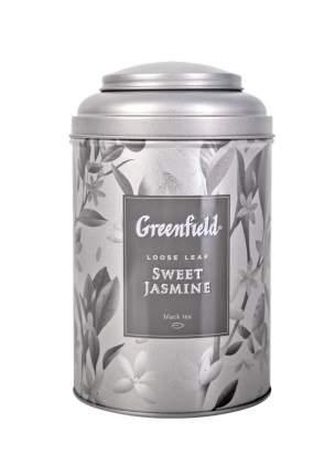 Чай черный и зеленый листовой Greenfield Sweet Jasmine в жестяной банке 100 г