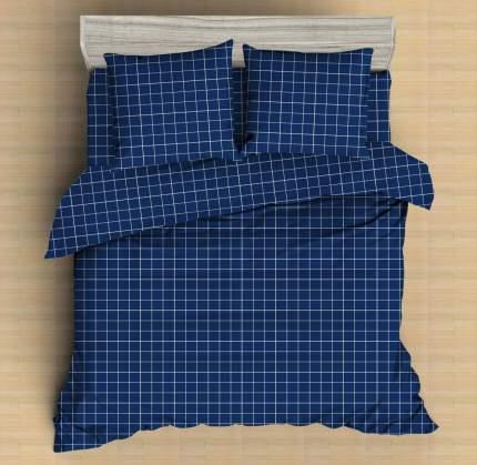 Постельное бельё Amore Mio Мако-сатин Indigo Микрофибра 1,5 спальный Синий