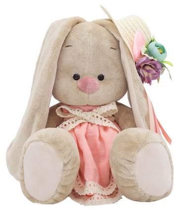 """Мягкая игрушка """"Зайка Ми"""" в бледно-розовом платье и шляпке с цветами, 23 см Зайка Ми"""